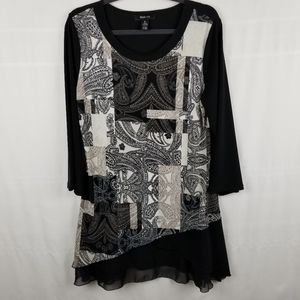 Style & Co jersey tunic 3/4 sleeves size M